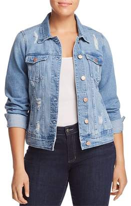 Junarose Plus Altala Distressed Denim Jacket