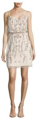 Adrianna Papell Beaded Floral Shift Dress
