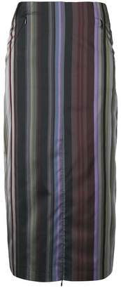 Aalto striped straight skirt