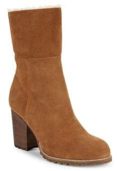 Saks Fifth Avenue Jovie Faux Fur Trim Suede Boots