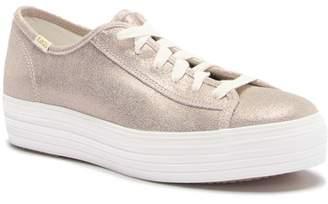Keds Triple Kick Glitter Suede Platform Sneaker