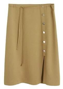 MANGO Violeta BY Buttoned midi skirt