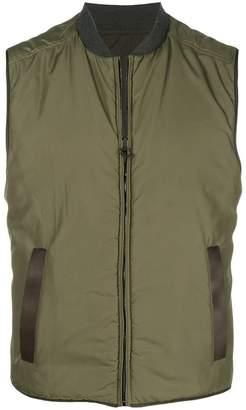 Salvatore Ferragamo padded reversible vest
