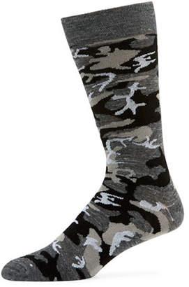 Neiman Marcus Men's Metallic Camouflage Socks
