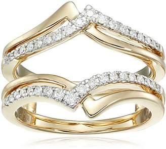 14k Gold Diamond Solitaire Enhancer Ring (1/4cttw