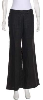Burberry Mid-Rise Linen Pants