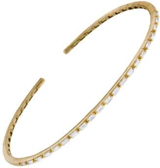Suzanne Kalan Small Flexible Thin Diamond Bracelet - Yellow Gold
