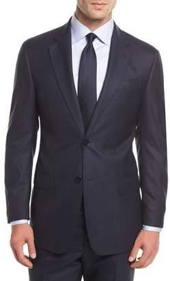 Armani Collezioni Tonal Plaid Wool Two-Piece Suit