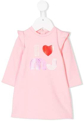 Little Marc Jacobs ruffled logo dress