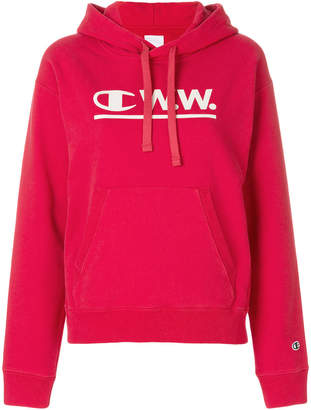 Wood Wood Champion X logo hoodie