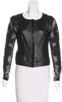 Amen Leather Detachable Jacket