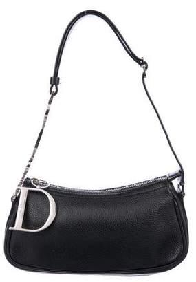 Christian Dior Leather Embellished-Strap Shoulder Bag