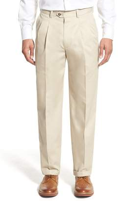 Nordstrom Classic Smartcare(TM) Supima(R) Cotton Pleated Trousers