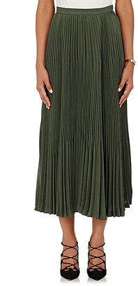 Theory Women's Laire Crepe Skirt-GREEN $269 thestylecure.com