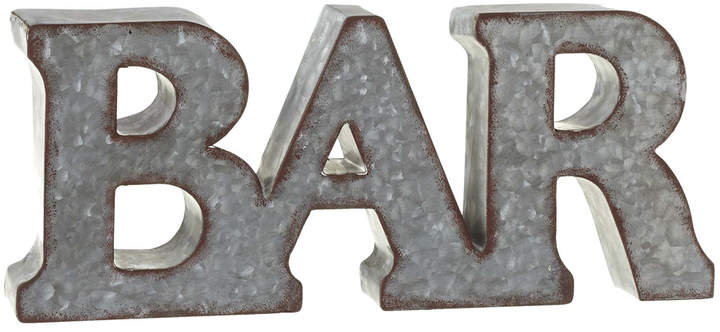 'Bar' Galvanized Wall Sign
