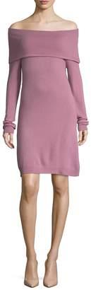 Sea Bleu Cashmere Foldover Sweater Dress