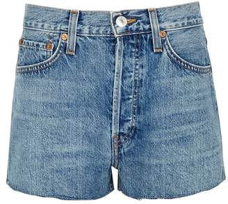 RE/DONE The Short Blue Denim Shorts
