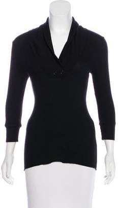 Splendid Thermal V-Neck Long Sleeve Top