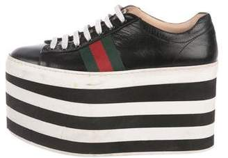 Gucci 2017 Peggy Leather Sneakers