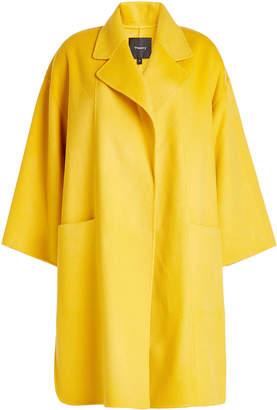 Theory Kimono Wool Coat with Cashmere