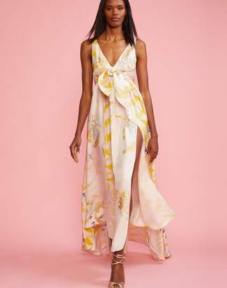 Cynthia Rowley Aurora Printed Silk Maxi Dress