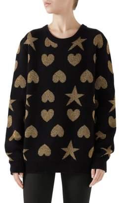 Gucci Metallic Logo Wool Sweater