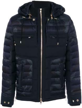 Balmain padded camouflage jacket
