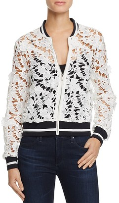 Lucy Paris Grace Lace Bomber Jacket - 100% Exclusive $118 thestylecure.com