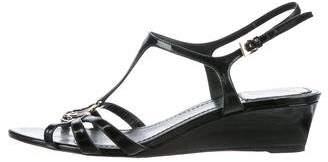 Christian Dior Logo Wedge Sandals