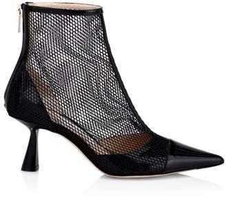 Jimmy Choo Kix Mesh & Patent Leather Booties