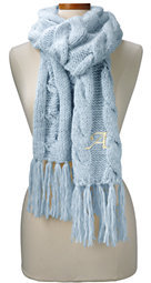 Lands' End Women's Chunky Cable Scarf-Rich Red $44 thestylecure.com