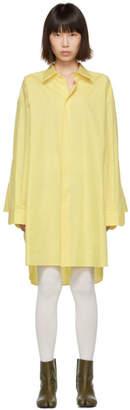 Maison Margiela Yellow Oversized Shirt Dress