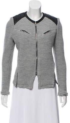 IRO Leather-Accented Wool Jacket