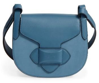 MICHAEL Michael KorsMichael Kors Daria Small Leather Saddle Bag - Blue
