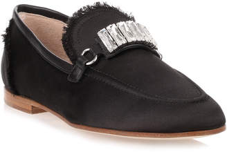 Giuseppe Zanotti Black satin loafer