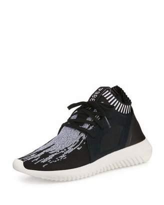 Adidas Tubular Defiant Primeknit Trainer, Black $130 thestylecure.com
