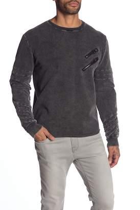 nANA jUDY Chevron Sleeve Zipper Sweatshirt