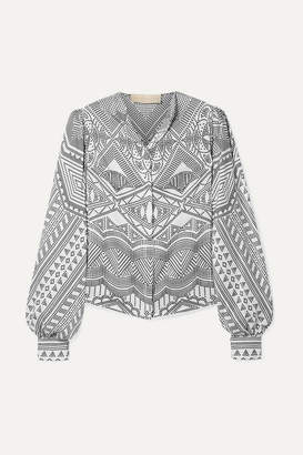 6ab5c64d63e Antonio Berardi Printed Silk-twill Shirt - White