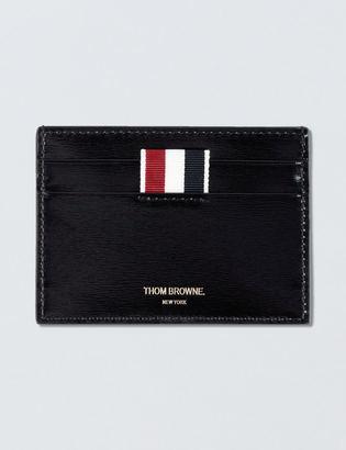 Thom Browne Calf Leather Single Card Holder with RWB Printed Stripe $360 thestylecure.com
