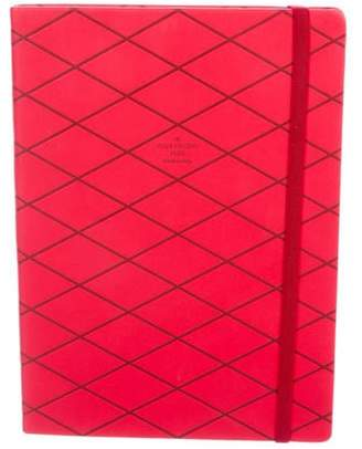 Louis Vuitton Leather Journal red Leather Journal