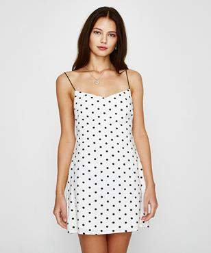 Alice In The Eve Spot Maddie Backless Mini Dress