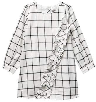 Calvin Klein Flannel Plaid Dress (Little Girls)