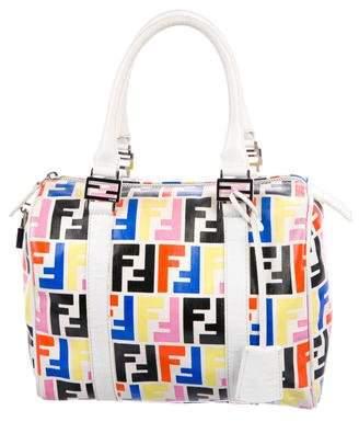 Fendi Multicolor Zucca Boston Bag