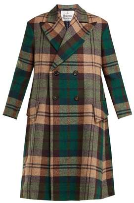 Vivienne Westwood Princess Hecked Harris Tweed Coat - Womens - Green