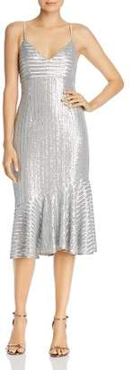 Saylor Sequin Slip Midi Dress
