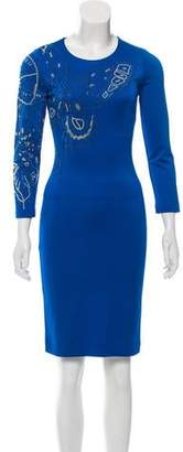 Just Cavalli Embellished Knee-Length Dress