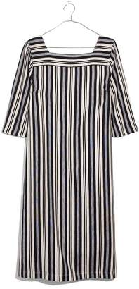 Madewell Evelyn Stripe Square Neck Midi Dress