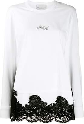 Philosophy di Lorenzo Serafini lace hem jersey top