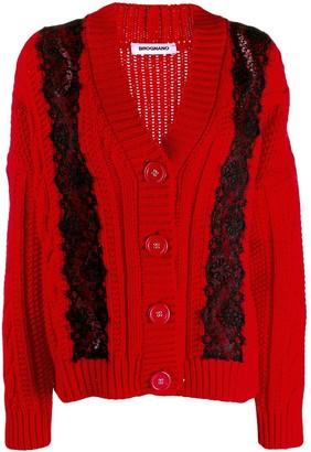 Brognano lace embellished chunky cardigan
