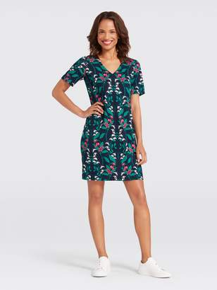 Draper James Floral Hedges Knit Shift Dress